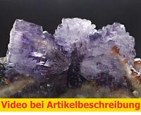 7654 Fluorite Sphalerite ca4,5*7,5*3 cm 1997 Stonewall Mine Tennessee USA MOVIE