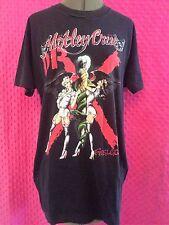 Vintage MOTLEY CRUE 1989 DR FEELGOOD TOUR Shirt NURSES Rare Rock Punk XL
