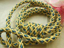 embrase cordeliére grosse sans pompons rideau bleu  jaune satiné