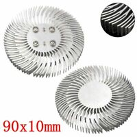90mm x10mm Round mountable Aluminum Heat Sink Cooling For 10W LED Heatsink