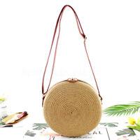 Summer Women Ladies Rattan Straw Woven Shoulder Tote Bag Handbag Beach !