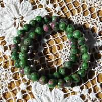 Ruby Zoisite Beaded Power Bracelet Natural 8mm Crystal Gemstone Beads