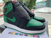 New Nike Air Jordan 1 Retro High OG GS Black Pine Green 575441-030 Youth SZ 4.5