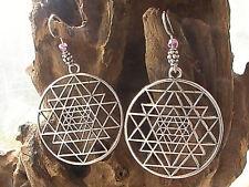 sacred geometry earrings BLESSED hand made meditation yoga buddhism hindu