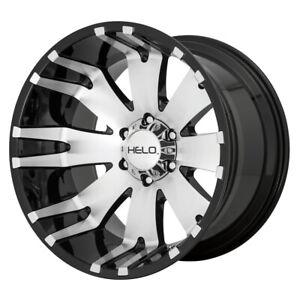"Helo HE917 20x12 5x5.5"" -44mm Black/Machined Wheel Rim 20"" Inch"