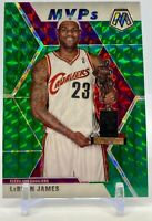 2019-20 Panini Prizm Mosaic LEBRON JAMES Green Prizm MVP's #298 Lakers