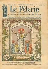 Coeur Sacré de Jesus Christ Art Deco Dessin Lecoultre France 1925 ILLUSTRATION