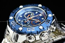 New Invicta Men's 57mm Excursion Blue Dial High Polished chronograph Swiss Watch