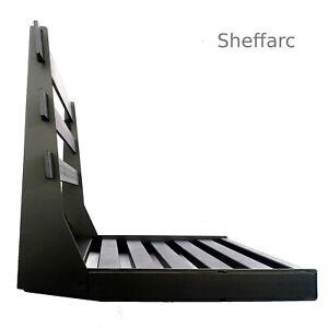 2 Seat Space Saving - Wall Mounted Foldaway / Fold up Metal Garden Seat / Bench