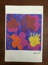 Andy Warhol Litografia 57 x 38 Arches Timbro Secco Israel Castelli AN502
