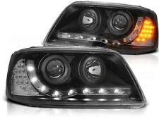 LED HEADLIGHTS LPVWA8 VW TRANSPORTER T5 2003 2004 2005 2006 2007 2008 2009 BLACK
