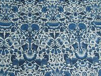 "LIBERTY OF LONDON TANA LAWN FABRIC DESIGN  ""Lodden "" 2.3 METRES  (230 CM) NAVY"