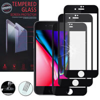 "3x Cristal protector para Apple iPhone 8 4.7"" real de Pantalla Negro"