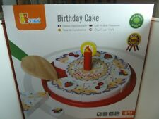 Children's Wooden Toys - VIGA  Wooden Birthday Cake (70852)