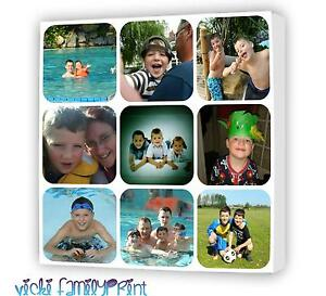 """20""""X20"""" PICTURE COLLAGE CANVAS PERSONALISED PHOTO BIRTHDAY CHRISTMAS XMAS FAMILY"""