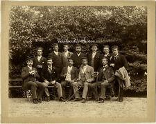 Original Photo, Studenten und Herren um 1900