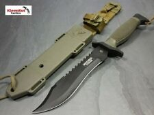 "Defender Extreme 12"" BOWIE Hunting Knife Fixed Blade TACTICAL SURVIVAL w/ SHEATH"