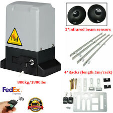 Automatic Electric Sliding Gate Motor Opener Kit, 2 Remotes, 2 Sensors, 800kg