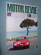 Zeitschrift Motor Revue Heft 57 1/1966 mit Chapparal, Porsche Story,Genfer Salon