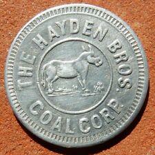 OAK CREEK Colorado PICTORIAL TOKEN ⚜️ Hayden Bros. Coal Corp. MINING