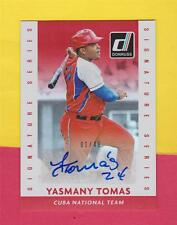 YASMANY TOMAS * 01/49 * RC RED AUTO AUTOGRAPH #3 DIAMONDBACKS * 2015 DONRUSS MLB