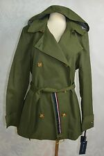 Tommy Hilfiger  size M   Hooded Short Trench Coat   NWD(missing hood button)