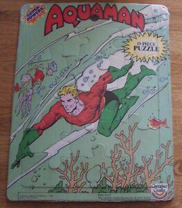 Vintage Aqua man Tray Puzzle Super Powers Creative Crafts DC Comics  c1984