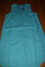 NWT WOMENS J JILL PLUS SIZE 1X CAPRI COLOR SLEEVELESS LINEN DRESS LINED $139