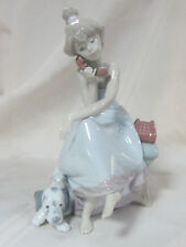 NEW LLADRO CHIT CHAT BRAND NEW IN BOX #5466 GIRL PHONE DOG SAVE$ FREE SHIPPING