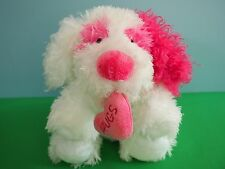"""2005 Ty Classic Valentine Dog, """"Crush"""", Heart with Hugs On It"""