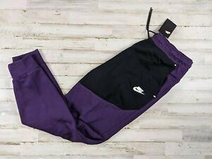 Nike Mens Sportswear Tech Fleece Joggers Purple Black CU4495 Small Medium Large