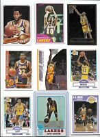 Lakers All-Time Greats Lot of (18) Different Bryant Magic Shaq Worthy Wilkes EX