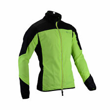 ROCKBROS Reflective Cycling Long Sleeve Polyester Wind Coat Green Black Jersey