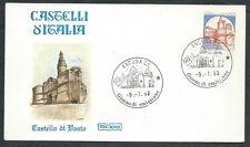 1983 ITALIA FDC ROMA CASTELLI 1400 LIRE NO TIMBRO ARRIVO - EDG40