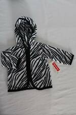 NEW Baby Girls Hooded Jacket 0 - 3 Month Zebra Print Hoodie Zip Soft Warm Infant