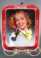 Vintage Reproduction Coca Cola 1943 Girl With Wind In Her Hair Tray by Metalix
