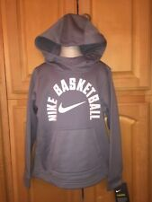 NWT NIKE Boys Nike Basketball Hoodie Sweatshirt, Gray & White, Size 6, $38.00