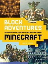 BLOCK ADVENTURES Incredible Maps and Games  * MINECRAFT * NEW PAPERBACK BOOK