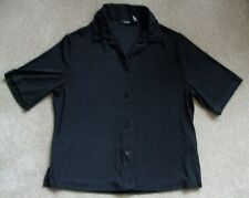 "GEORGE WOMENS BLACK BLOUSE WITH COLLAR. SIZE MEDIUM 8/10 40""BUST 25"" LONG"