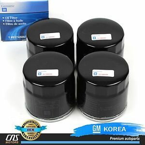 99-08 Chevy Aveo Nubira Lanos Leganza Forenza Reno Pack of 4 GENUINE Oil Filter