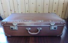 Large Vintage Compressed Cardboard Suitcase