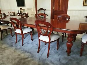 Victorian Mahogany Dining Room Suite...seats 12....includes matching chairs