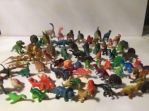 """Pvc Plastic Toy Dinosaur Miniature Lot of 70+ Action Figures 2""""-5"""" T-Rex"""