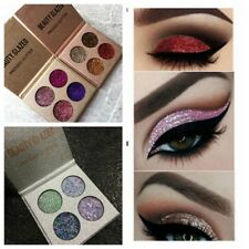 Diamond Glitter Eyeshadow Palette 4 Colors Set Shining Highlighter Makeup Beauty