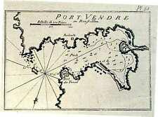 Carte antique, port vendre en roussilion