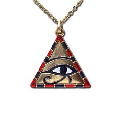 EGYPTIAN PYRAMID HORUS EYE NECKLACE.PENDANT JEWELRY.NEW