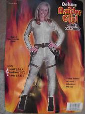 DeluxeTomb Raider Costume Rare Jolie Size medium 5-7 Guns Jumpsuit holster