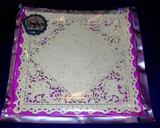 "VTG 1930S GORGEOUS NOS UNOPENED PKG ROYLIES 6"" PAPER LACE SQUARE DOILIES, CRAFTS"