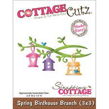 """CottageCutz Die 3""""X3"""" ~ Spring Birdhouse Branch Made Easy, 3X3097 ~ NIP"""