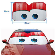 Car Windshield Sun Shade Sun Visor Anti-UV Red Big Eyes Funny Aluminium Foil